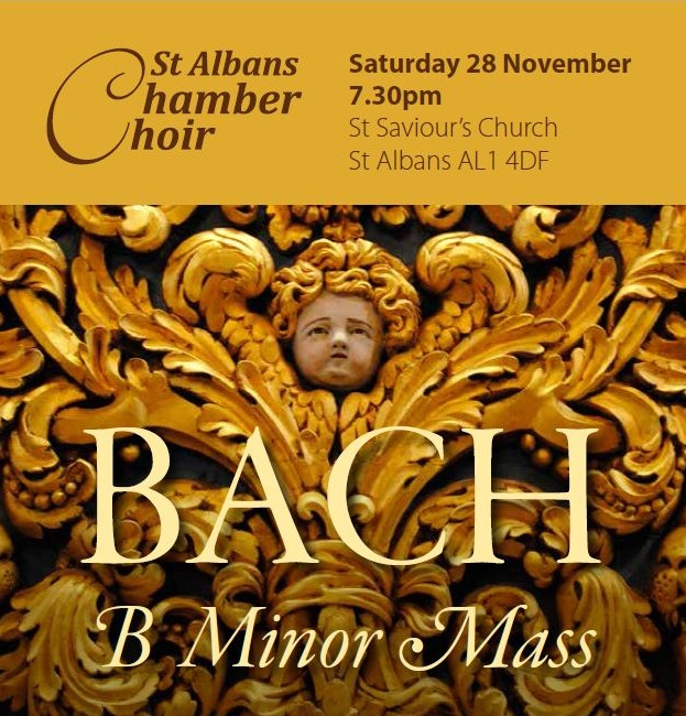Bach B Minor Mass: Saturday 28th November 2015
