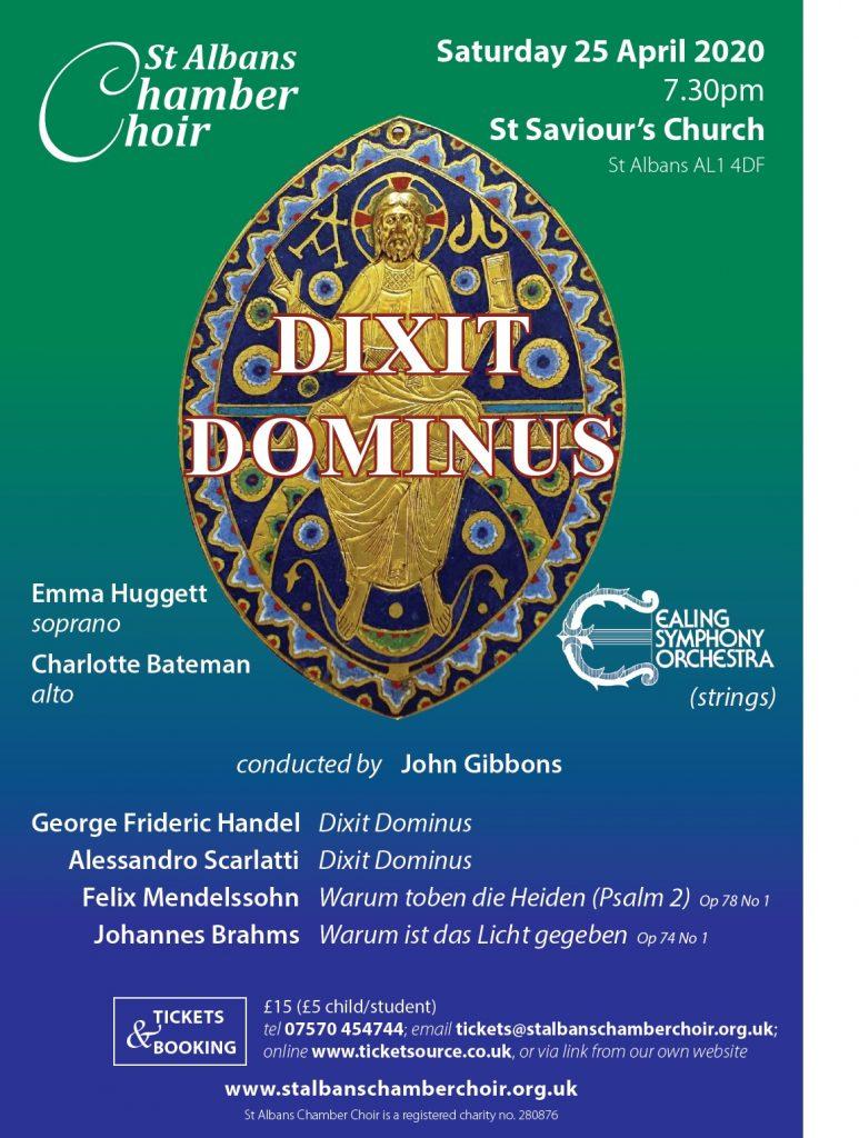 SACC Dixit Dominus flyer image